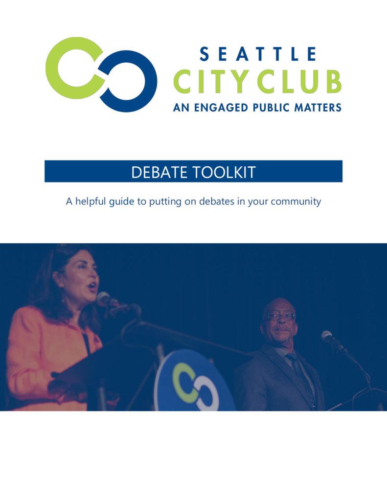 Seattle CityClub Debate Toolkit